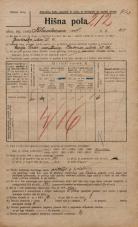 Popis prebivalstva 20. 12. 1921<br />Ljubljana<br />Kladezna ulica 21<br />Population census 20 December 1921