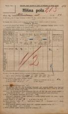 Popis prebivalstva 20. 12. 1921<br />Ljubljana<br />Kladezna ulica 22<br />Population census 20 December 1921