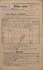 Popis prebivalstva 20. 12. 1921<br />Ljubljana<br />Kladezna ulica 3<br />Population census 20 December 1921