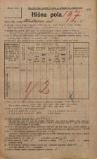 Popis prebivalstva 20. 12. 1921<br />Ljubljana<br />Kladezna ulica 5<br />Population census 20 December 1921