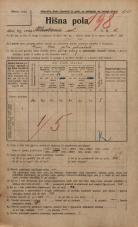 Popis prebivalstva 20. 12. 1921<br />Ljubljana<br />Kladezna ulica 6<br />Population census 20 December 1921