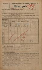 Popis prebivalstva 20. 12. 1921<br />Ljubljana<br />Kladezna ulica 7<br />Population census 20 December 1921