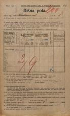 Popis prebivalstva 20. 12. 1921<br />Ljubljana<br />Kladezna ulica 8<br />Population census 20 December 1921