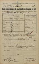 Popis prebivalstva 20. 12. 1921<br />Ljubljana<br />Kladezna ulica - Rečna ulica 5<br />Population census 20 December 1921