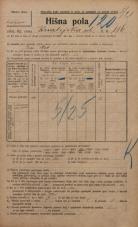 Popis prebivalstva 20. 12. 1921<br />Ljubljana<br />Kmetijska ulica 116<br />Population census 20 December 1921