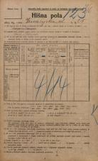 Popis prebivalstva 20. 12. 1921<br />Ljubljana<br />Kmetijska ulica 210<br />Population census 20 December 1921