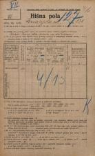 Popis prebivalstva 20. 12. 1921<br />Ljubljana<br />Kmetijska ulica 230<br />Population census 20 December 1921