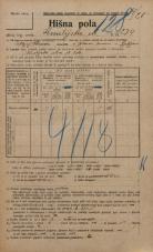 Popis prebivalstva 20. 12. 1921<br />Ljubljana<br />Kmetijska ulica 234<br />Population census 20 December 1921