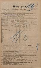 Popis prebivalstva 20. 12. 1921<br />Ljubljana<br />Kmetijska ulica 291<br />Population census 20 December 1921