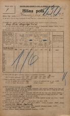 Popis prebivalstva 20. 12. 1921<br />Ljubljana<br />Kmetijska ulica 292<br />Population census 20 December 1921