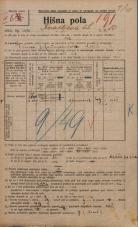 Popis prebivalstva 20. 12. 1921<br />Ljubljana<br />Knafljeva ulica 10<br />Population census 20 December 1921