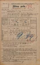 Popis prebivalstva 20. 12. 1921<br />Ljubljana<br />Knafljeva ulica 13<br />Population census 20 December 1921