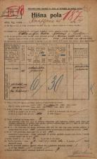 Popis prebivalstva 20. 12. 1921<br />Ljubljana<br />Knafljeva ulica 4<br />Population census 20 December 1921