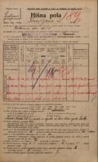 Popis prebivalstva 20. 12. 1921<br />Ljubljana<br />Knafljeva ulica 7<br />Population census 20 December 1921