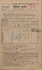 Popis prebivalstva 20. 12. 1921<br />Ljubljana<br />Knafljeva ulica 9<br />Population census 20 December 1921
