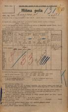 Popis prebivalstva 20. 12. 1921<br />Ljubljana<br />Knezova ulica 121<br />Population census 20 December 1921