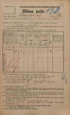 Popis prebivalstva 20. 12. 1921<br />Ljubljana<br />Knezova ulica 122<br />Population census 20 December 1921