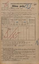 Popis prebivalstva 20. 12. 1921<br />Ljubljana<br />Knezova ulica 123<br />Population census 20 December 1921
