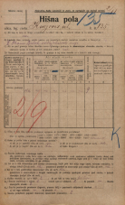 Popis prebivalstva 20. 12. 1921<br />Ljubljana<br />Knezova ulica 135<br />Population census 20 December 1921