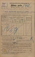 Popis prebivalstva 20. 12. 1921<br />Ljubljana<br />Knezova ulica 225<br />Population census 20 December 1921
