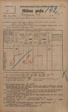 Popis prebivalstva 20. 12. 1921<br />Ljubljana<br />Knezova ulica 235a<br />Population census 20 December 1921