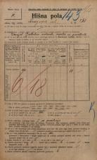 Popis prebivalstva 20. 12. 1921<br />Ljubljana<br />Knezova ulica 251<br />Population census 20 December 1921