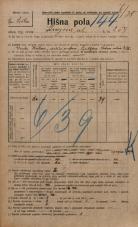 Popis prebivalstva 20. 12. 1921<br />Ljubljana<br />Knezova ulica 254<br />Population census 20 December 1921