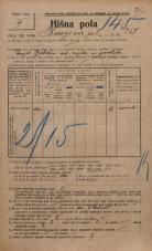 Popis prebivalstva 20. 12. 1921<br />Ljubljana<br />Knezova ulica 258<br />Population census 20 December 1921