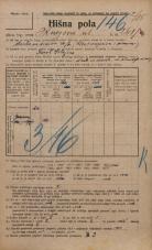 Popis prebivalstva 20. 12. 1921<br />Ljubljana<br />Knezova ulica 261<br />Population census 20 December 1921