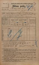 Popis prebivalstva 20. 12. 1921<br />Ljubljana<br />Knezova ulica 262<br />Population census 20 December 1921