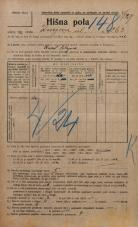 Popis prebivalstva 20. 12. 1921<br />Ljubljana<br />Knezova ulica 263<br />Population census 20 December 1921