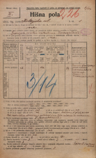 Popis prebivalstva 20. 12. 1921<br />Ljubljana<br />Kolezijska ulica 1<br />Population census 20 December 1921