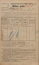 Popis prebivalstva 20. 12. 1921<br />Ljubljana<br />Kolezijska ulica 10<br />Population census 20 December 1921