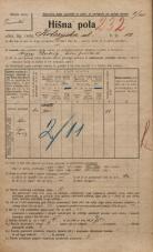 Popis prebivalstva 20. 12. 1921<br />Ljubljana<br />Kolezijska ulica 12<br />Population census 20 December 1921