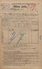 Popis prebivalstva 20. 12. 1921<br />Ljubljana<br />Kolezijska ulica 6<br />Population census 20 December 1921