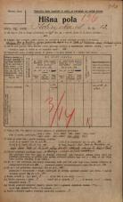 Popis prebivalstva 20. 12. 1921<br />Ljubljana<br />Kolizijska ulica 12<br />Population census 20 December 1921