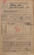 Popis prebivalstva 20. 12. 1921<br />Ljubljana<br />Kolodvorska cesta 100<br />Population census 20 December 1921