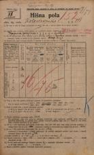 Popis prebivalstva 20. 12. 1921<br />Ljubljana<br />Kolodvorska cesta 111<br />Population census 20 December 1921