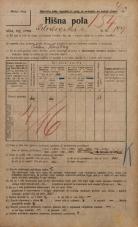 Popis prebivalstva 20. 12. 1921<br />Ljubljana<br />Kolodvorska cesta 149<br />Population census 20 December 1921