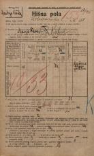Popis prebivalstva 20. 12. 1921<br />Ljubljana<br />Kolodvorska cesta 150<br />Population census 20 December 1921