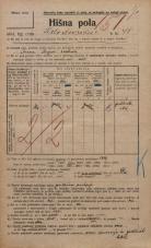Popis prebivalstva 20. 12. 1921<br />Ljubljana<br />Kolodvorska cesta 98<br />Population census 20 December 1921
