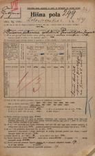 Popis prebivalstva 20. 12. 1921<br />Ljubljana<br />Kolodvorska cesta 99<br />Population census 20 December 1921