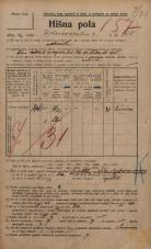 Popis prebivalstva 20. 12. 1921<br />Ljubljana<br />Kolodvorska cesta 160<br />Population census 20 December 1921