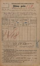 Popis prebivalstva 20. 12. 1921<br />Ljubljana<br />Kolodvorska cesta 165<br />Population census 20 December 1921