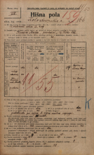 Popis prebivalstva 20. 12. 1921<br />Ljubljana<br />Kolodvorska cesta 166<br />Population census 20 December 1921