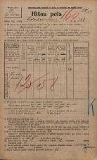 Popis prebivalstva 20. 12. 1921<br />Ljubljana<br />Kolodvorska cesta 181<br />Population census 20 December 1921
