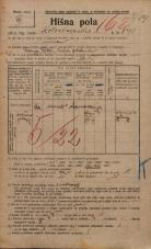 Popis prebivalstva 20. 12. 1921<br />Ljubljana<br />Kolodvorska cesta 191<br />Population census 20 December 1921