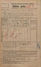 Popis prebivalstva 20. 12. 1921<br />Ljubljana<br />Kolodvorska cesta 192<br />Population census 20 December 1921