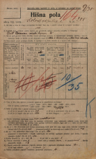 Popis prebivalstva 20. 12. 1921<br />Ljubljana<br />Kolodvorska cesta 200<br />Population census 20 December 1921