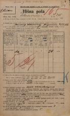 Popis prebivalstva 20. 12. 1921<br />Ljubljana<br />Kolodvorska cesta 208<br />Population census 20 December 1921